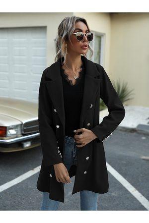 URBANIC Women Black Solid Trench Coat