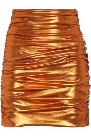 Dolce & Gabbana Ruched metallic mini skirt