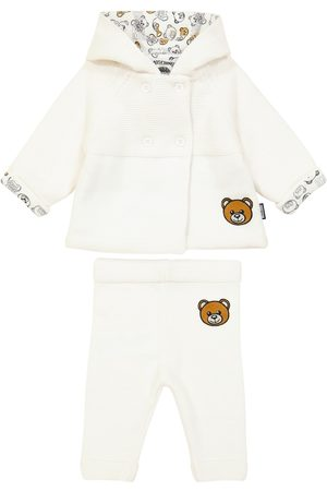 Moschino Baby cotton-blend cardigan and sweatpants set