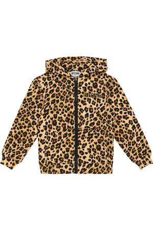 Moschino Leopard-print zipped hoodie