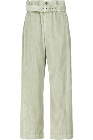 Brunello Cucinelli High-rise velvet cotton pants