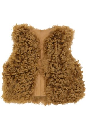 BONPOINT Poppy shearling and leather vest