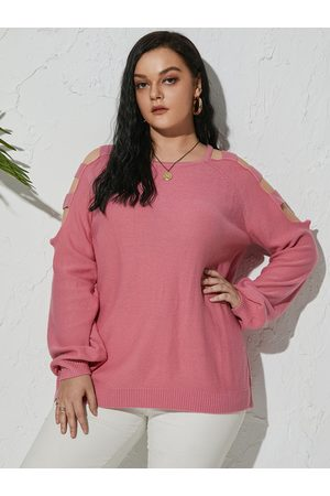 YOINS Plus Size Cold Shoulder Cut Out Long Sleeves Sweater