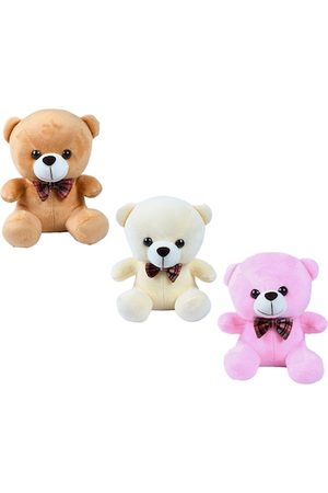 DukieKooky Kids Pack Of 3 Teddy Bear With Bow Tie Soft Toy