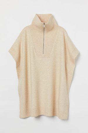 H&M Women Ponchos & Capes - Fine-knit polo-neck poncho