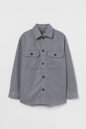 H&M Relaxed Fit Shirt jacket - Grey