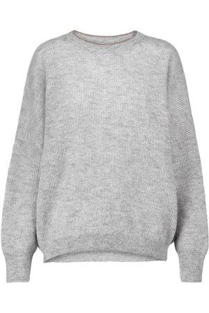 Brunello Cucinelli Women Jumpers - Metallic mohair-blend sweater