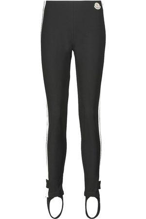 Moncler Mid-rise jersey stirrup leggings