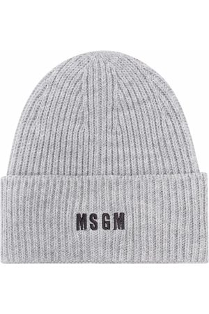 Msgm Men Beanies - Embroidered-logo beanie