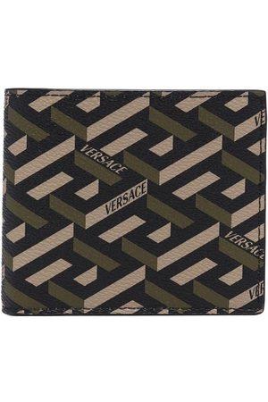VERSACE All-over logo print wallet