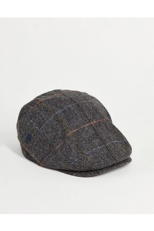 French Connection Check flat cap in