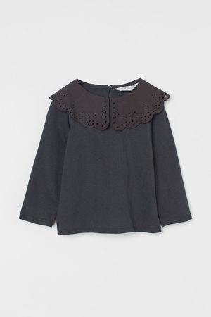 H&M Collared jersey top - Grey
