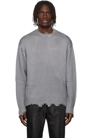 C2H4 Men Jumpers - Grey Filtered Reality Arc Sculpture Sweater