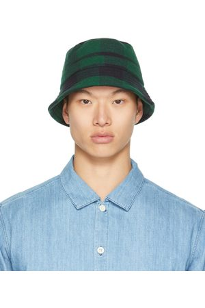 YMC Black & Green Check Bucket Hat