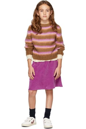 Longlivethequeen Jumpers - Kids Mohair Striped Sweater