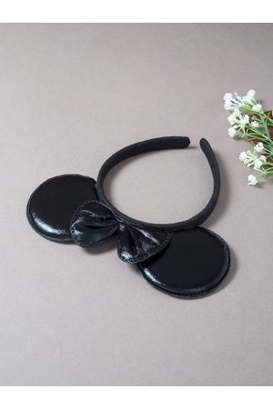 Golden Peacock Women Micky Mouse Ears & Bow Hairband
