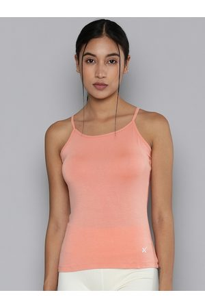 HRX Women Peach Solid Antimicrobial Lifestyle Camisoles