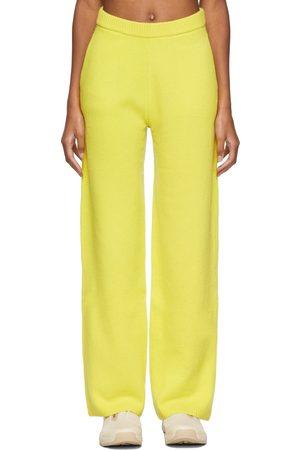 Victor Glemaud Yellow Wool Lounge Pants