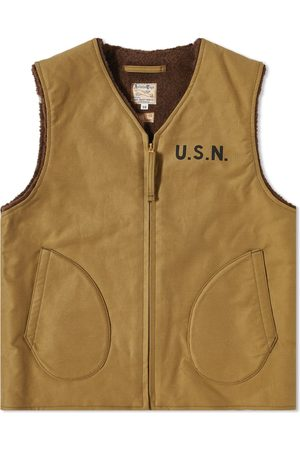 The Real McCoys Pile Lined Alpaca Vest