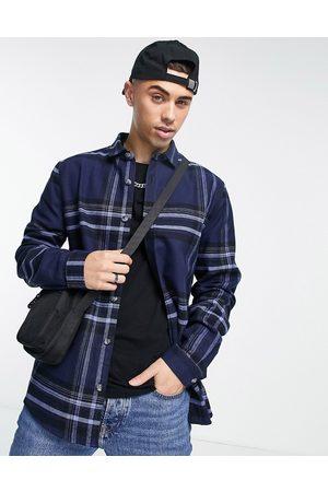 River Island Long sleeve check shirt in & navy