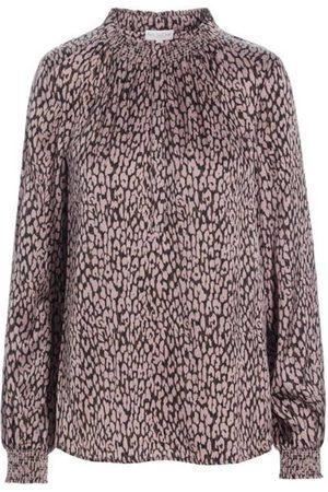 Dea Kudibal Faith Silk Tunic Shirt - Taupe Animal Print