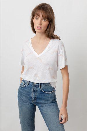 Rails Women Short Sleeve - Cara V Neck T Shirt - Golden Cheetah