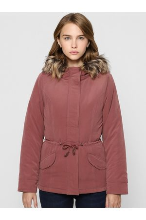 ONLY Women Rose Brown Hooded Parka Jacket