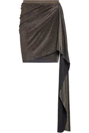 Rick Owens Metallic miniskirt