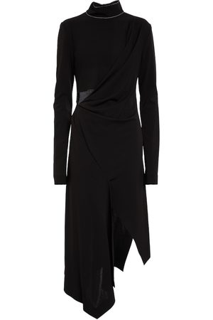 OFF-WHITE Women Casual Dresses - Cut-out jersey midi dress