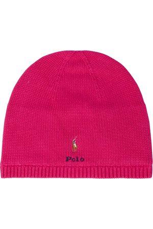 Ralph Lauren Logo cotton knit beanie