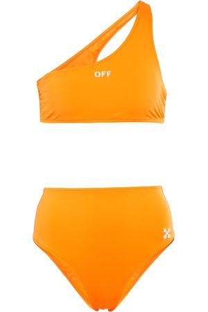 OFF-WHITE Logo one-shoulder bikini