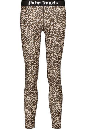 Palm Angels Leopard-print leggings