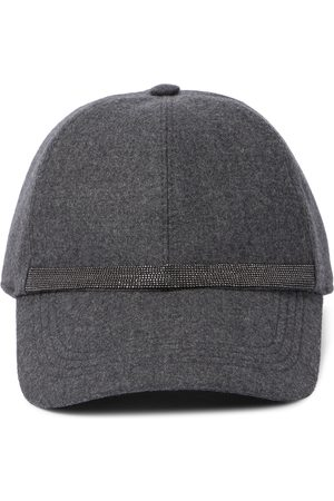 Brunello Cucinelli Embellished wool-blend baseball cap