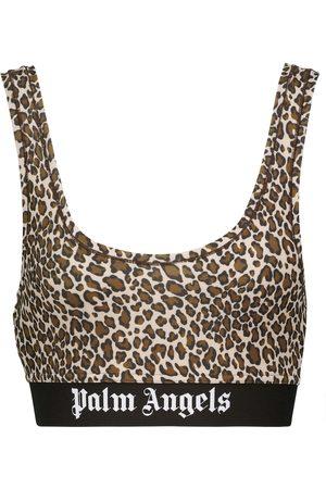 Palm Angels Leopard-print sports bra