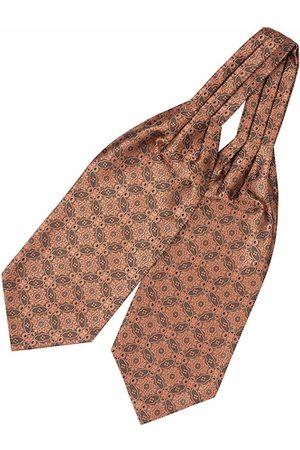 The Tie Hub Men Brown & Beige Ethnic Motifs Woven Design Cravat