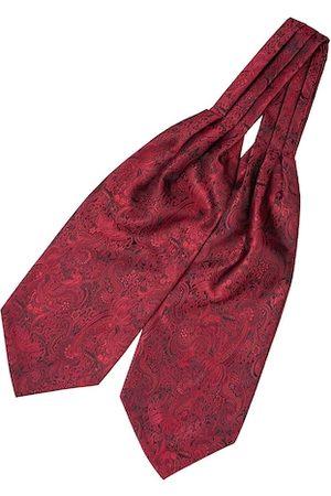 The Tie Hub Men Maroon Woven Design Cravat