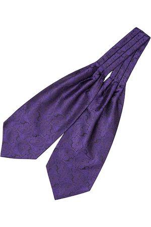 The Tie Hub Men Purple Paisley Woven Design Tailored Cravat