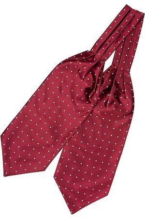 The Tie Hub Men Red & White Polka Dots Printed Cravat