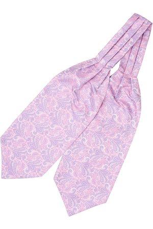 The Tie Hub Men Pink & Blue Woven Design Cravat
