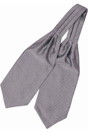 The Tie Hub Men Grey & White Woven Design Cravat