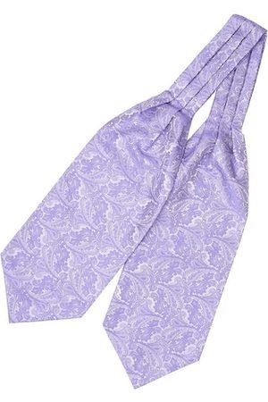 The Tie Hub Men Lavender Woven Design Cravat