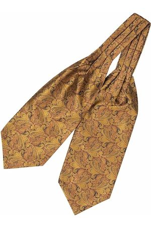 The Tie Hub Men Gold & Brown Paisley Cravat