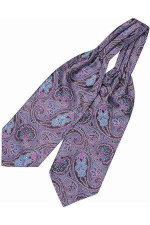 The Tie Hub Men Purple & Blue Woven Design Cravat