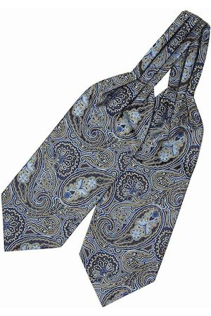 The Tie Hub Men Green Woven Design Cravat