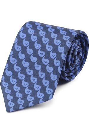 Tossido Men Blue Woven Design Broad Tie
