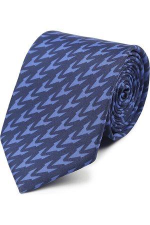 Tossido Men Blue Printed Broad Tie