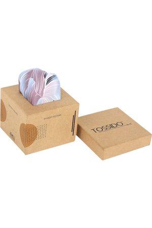 Tossido Men Pink & White Printed Microfibre Pocket Square