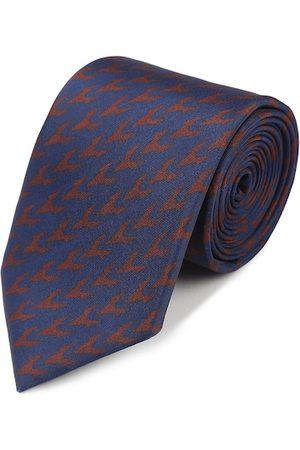 Tossido Men Blue & Red Woven Design Broad Tie