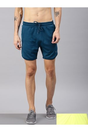 HRX Men Pack Of 2 Solid Regular Fit Rapid-Dry Sports Shorts