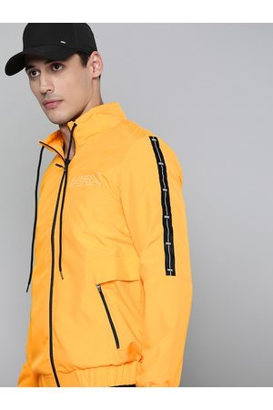 HRX Lifestyle Men Electric Kumquat Rapid-Dry Solid Jacket